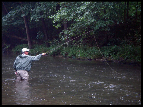 Quando si pesca a brevi distanze, si può utilizzare anche una coda leggera, ed una canna più corta