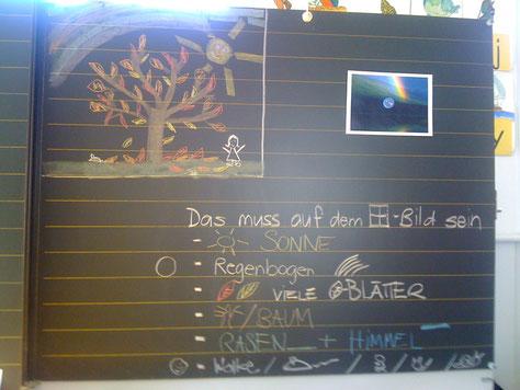 Foto: B. Moser  * Zeichnungsunterricht 1./2. Klasse