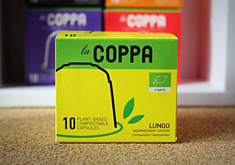 LaCoppa Lungo - pflanzbasierte, kompostierbare Kaffeekapseln