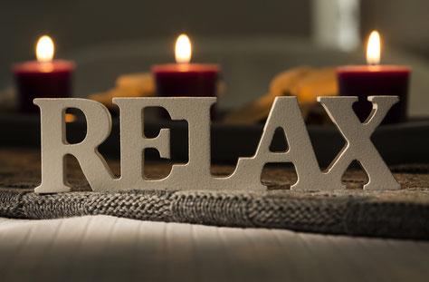 Entspannung bei Kerzenschein