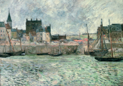 Gauguin, Paul (1848-1903) Le Port de Dieppe, vers 1885 Huile sur toile, Manchester, Royaume-Uni, Manchester City Galleries © Manchester Art Gallery, UK / Bridgeman Images