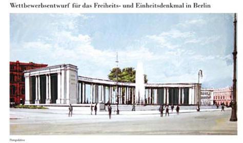 Wettbewerbsentwurf Neuhaus Freiheits-und Einheitsdenkmal