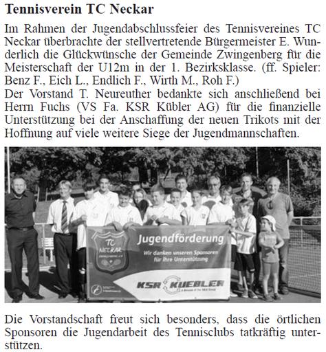 Artikel Amtsblatt vom 12.09.2013