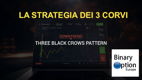 la strategia di inversione di tendenza dei 3 corvi con iq option