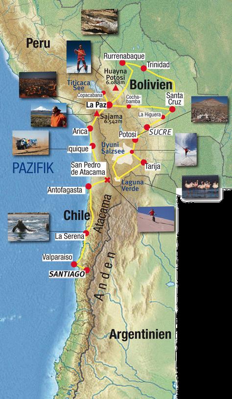 Karte Atacama