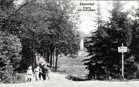 Eingang zu den Wehranlagen Anfang des 20. Jahrhunderts - vergrößern!
