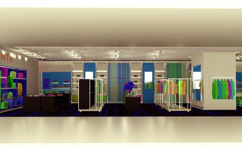 Visualisierung Shopbeleuchtung
