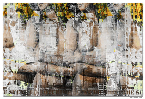 #nyc #collage #painting #divosantino #manhattan #girl #naked #frauen #nackt