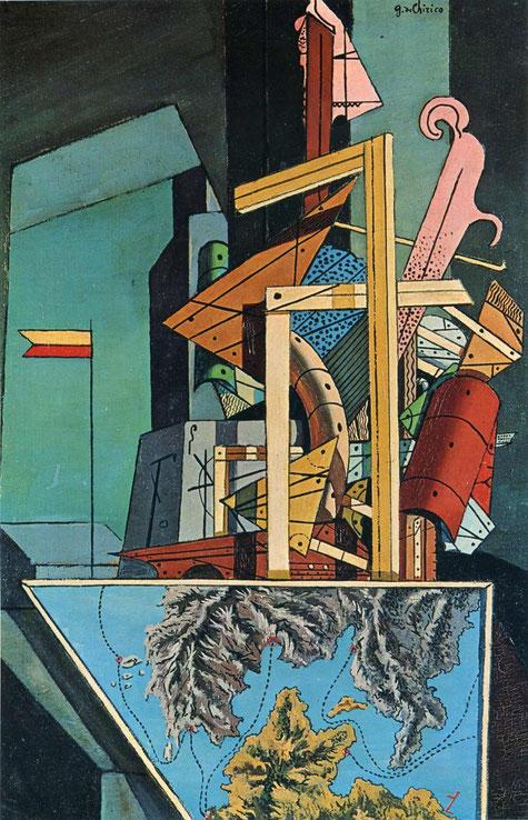 ジョルジョ・デ・キリコ「出発の憂鬱」(1916年)