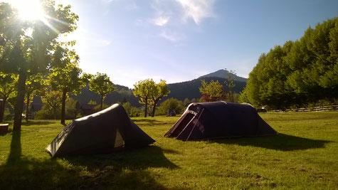 Tentes au camping La Virette du Sappey en Chartreuse