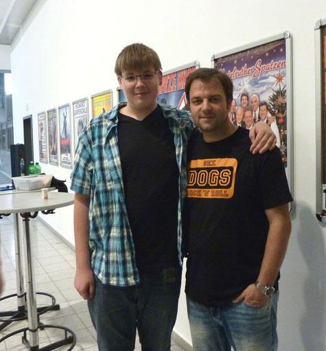 Alex (sichtlich stolz !!) und Martin Rütter am 12.09.2013