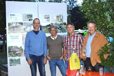 Am Rande des Konzerts: Norbert Grobbel, Burkhard Ross, Bernhard Bürger, Johannes Börger