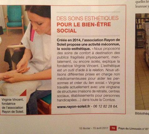 Magazine Pays du Limousin 16 février 2017