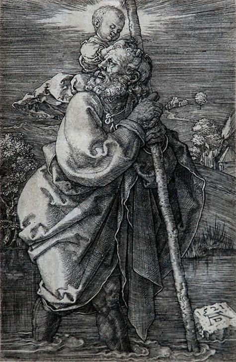 Gravure d'Albert DURER (1521)