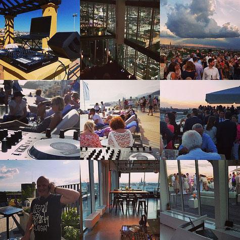 DJ Muenchen als DJ am Wasser und Rooftop gelegener Event