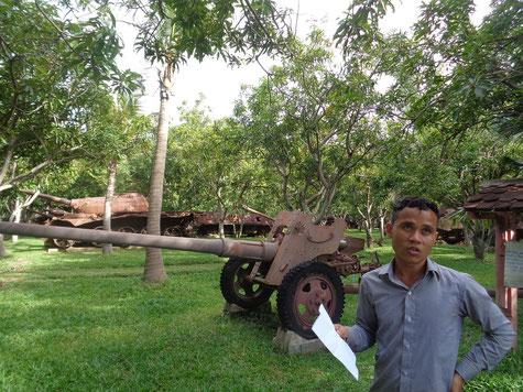 """Unser Guide der uns mit vielen Informationen zu den jüngsten Konflikte in Kambodscha """"fütterte"""""""