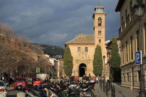 View on Iglesia de Santa Ana from Plaza Nueva