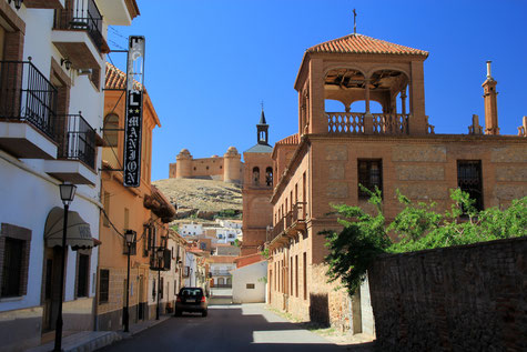 View of Calahorra and its castle