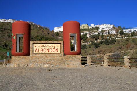 The entrance of Albondón