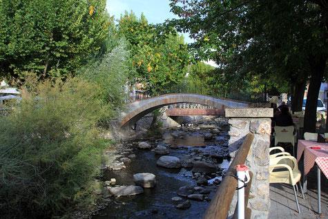 View on the old bridge of Pinos de Genil