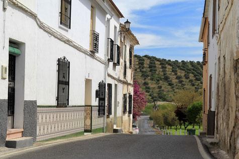 The main street in Agrón