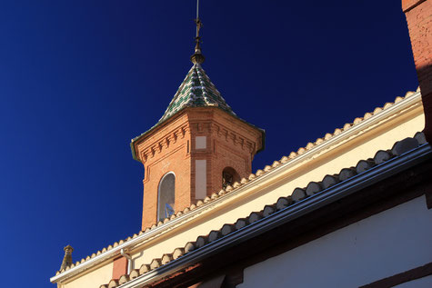 Detail of the church of Güevéjar