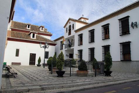 The church square in La Zubia
