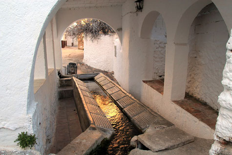 The historic washing sinks in Albuñuelas