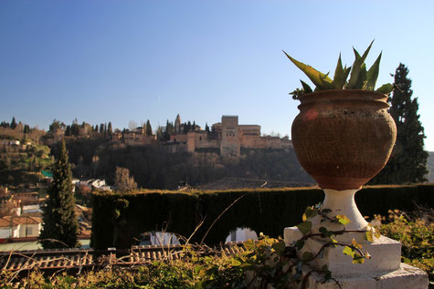 View from the terrace bar that is located in Carmen de la Victoria