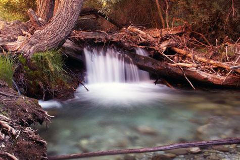 Small waterfall of the Dílar river