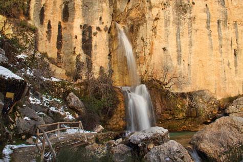 Waterfall Magdalena Natural Park Sierra Castril