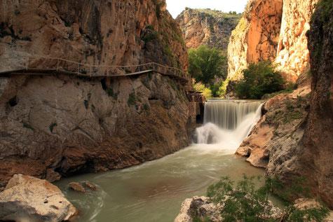 The river Velillos Canyon