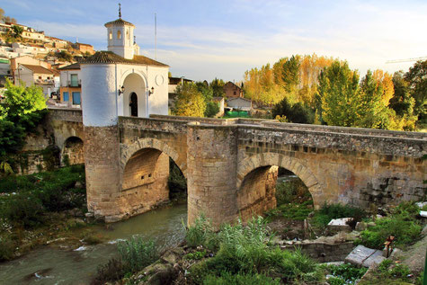 The bridge with gate in Pinos Puente