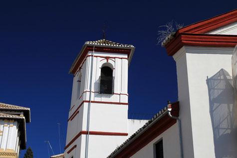 View on the tower of Iglesia de San Gregorio Bético