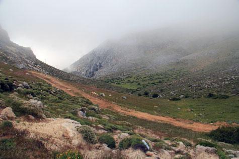 The valley of Cuevas del Agua in Iznalloz