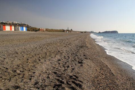 The beach La Guardia between La Caleta and Salobreña