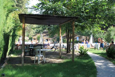 The outside hotsprings in Alhama de Granada