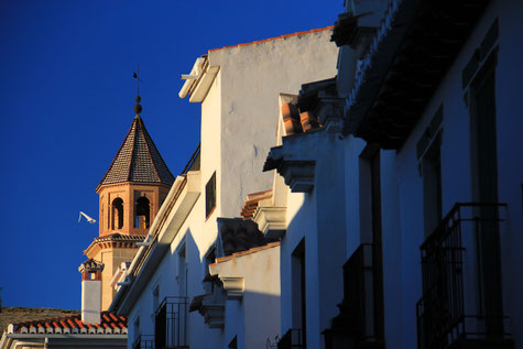 View on the church of El Padul
