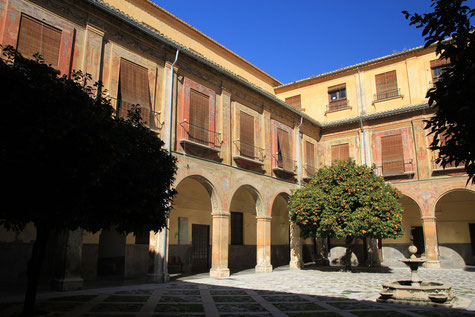 View on the inner square of Hospital de San Juan de Dios