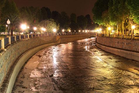 Rio Genil at night along the Passeo de Salon