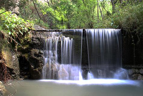 A waterfall in Dúrcal