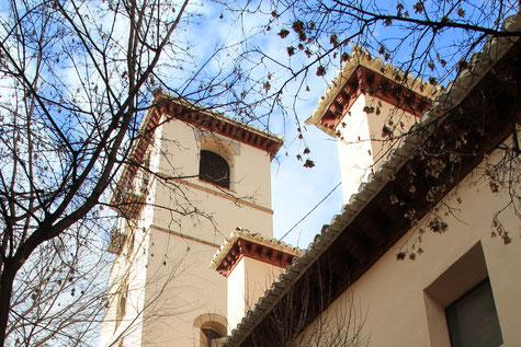 The tower of Iglesia Imperial de San Matias.