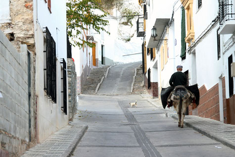 One of the streets of Colomera