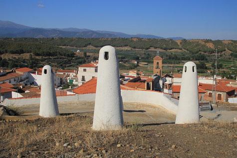 The chimneys of Alcudia de Guadix
