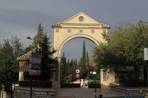 The entrance of the park of La Zubia