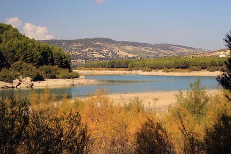 "The lake ""Los Bermejales"" in Arenas del Rey"