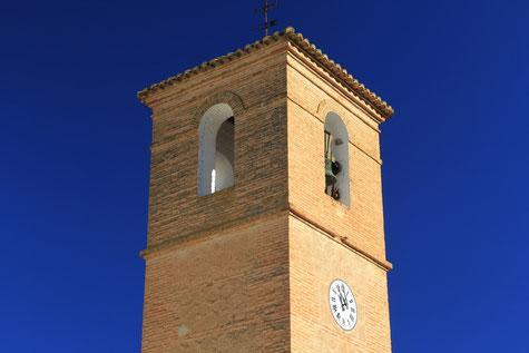 The tower of the church from Cónchar