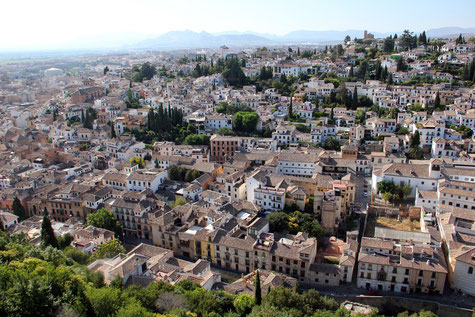 View on Albaicín from the Alhambra