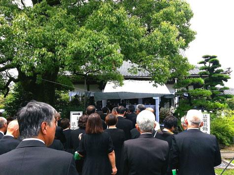 山田明爾先生の寺葬