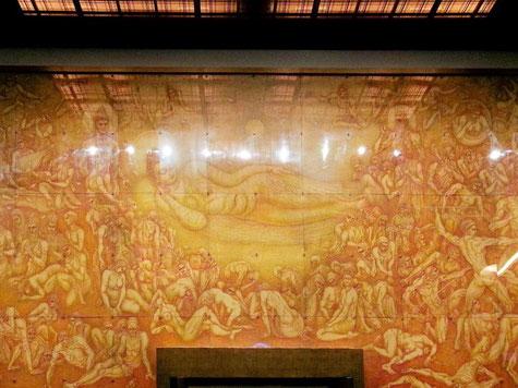 杉本哲郎作 壁画 「無明と寂光」